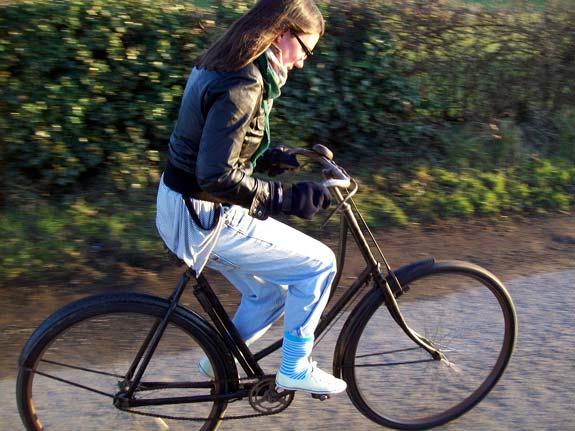 Bike calça sob a meia