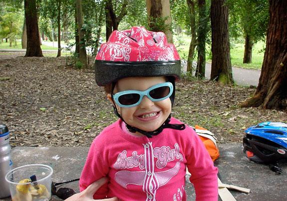 Crianças nas bikes